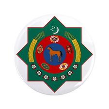 """Turkmenistan Coat of Arms 3.5"""" Button"""