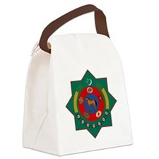 Turkmenistan Coat of Arms Canvas Lunch Bag