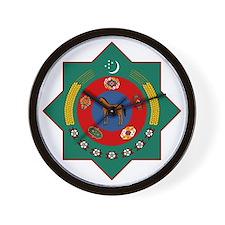 Turkmenistan Coat of Arms Wall Clock
