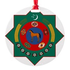 Turkmenistan Coat of Arms Ornament