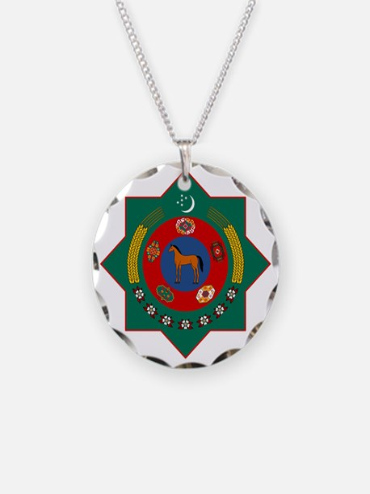 Turkmenistan Coat of Arms Necklace