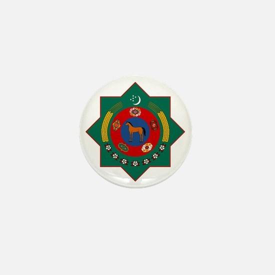 Turkmenistan Coat of Arms Mini Button