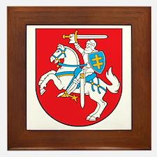 Lithuania Coat of Arms Framed Tile