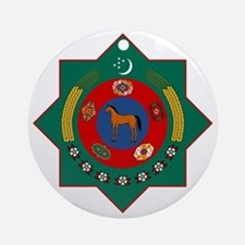 Turkmenistan Coat of Arms Round Ornament