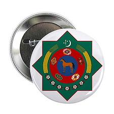 """Turkmenistan Coat of Arms 2.25"""" Button"""