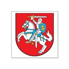 "Lithuania Coat of Arms Square Sticker 3"" x 3"""