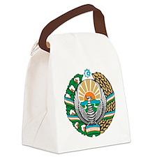 Uzbekistan Coat of Arms Canvas Lunch Bag