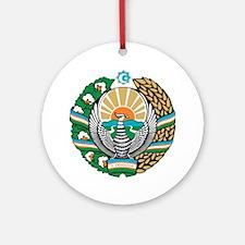 Uzbekistan Coat of Arms Round Ornament