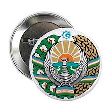 """Uzbekistan Coat of Arms 2.25"""" Button"""