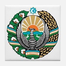 Uzbekistan Coat of Arms Tile Coaster