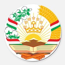 Tajikistan Coat of Arms Round Car Magnet