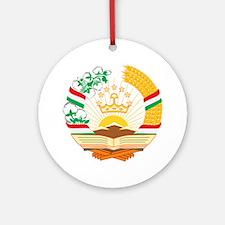 Tajikistan Coat of Arms Round Ornament