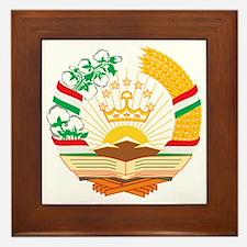 Tajikistan Coat of Arms Framed Tile