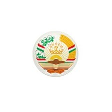 Tajikistan Coat of Arms Mini Button