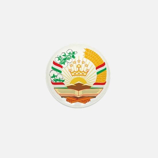 Tajikistan Coat of Arms Mini Button