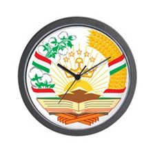 Tajikistan Coat of Arms Wall Clock
