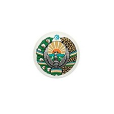 Uzbekistan Coat of Arms Mini Button