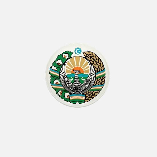 Uzbekistan Coat of Arms Mini Button