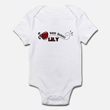 Ladybug Happy Birthday Lily Infant Bodysuit