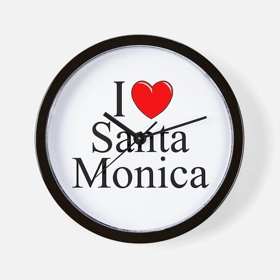 """""""I Love Santa Monica"""" Wall Clock"""