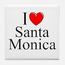 """""""I Love Santa Monica"""" Tile Coaster"""