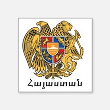 "Armenia Emblem Square Sticker 3"" x 3"""