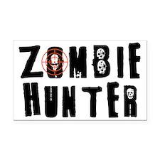 Zombie Hunter Rectangle Car Magnet