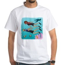 Scuba Scene Couple (brunette/blonde) Shirt