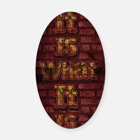 Bricks It is what it is Oval Car Magnet