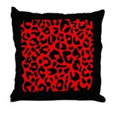 Animal print red Throw Pillows