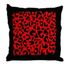 menswalletredleopardpng Throw Pillow
