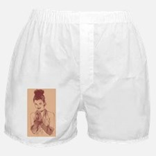 lady with hair up Boxer Shorts