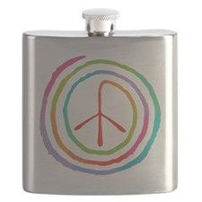 spiral-peace2-T Flask