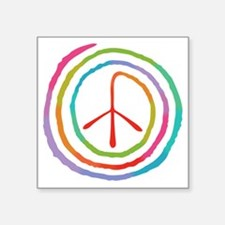 "spiral-peace2-T Square Sticker 3"" x 3"""