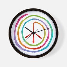 spiral-peace2-T Wall Clock