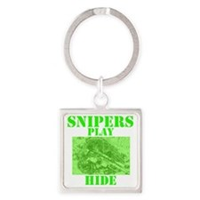 Art_Snipers play hide green2 Square Keychain