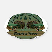 California dreamin Oval Car Magnet