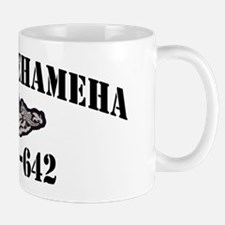 kamehameha ssbn black letters Mug
