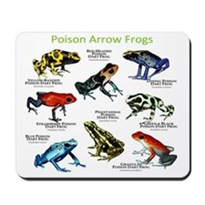 Poison Dart Frogs of the Amazon Mousepad
