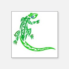 "lizard_1 green 7x8 right Square Sticker 3"" x 3"""
