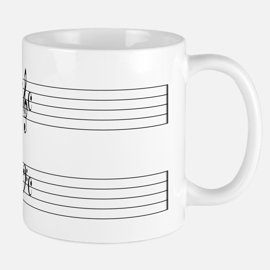 Blank Music Stave Mugs