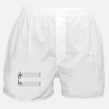 Blank Music Stave Boxer Shorts