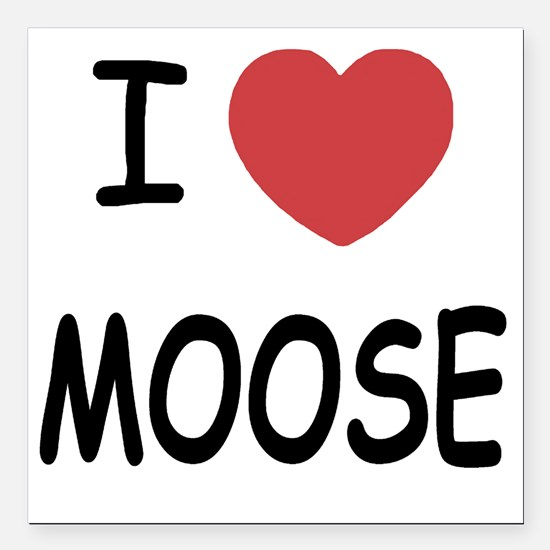 "MOOSE Square Car Magnet 3"" x 3"""