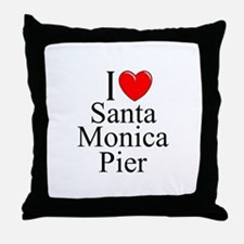 """I Love Santa Monica Pier"" Throw Pillow"