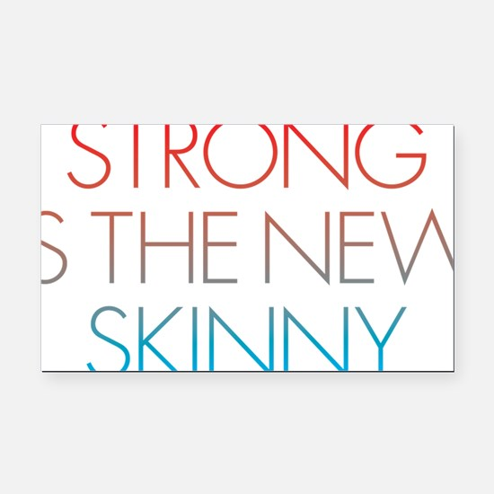Strong is the new Skinny Blue Rectangle Car Magnet
