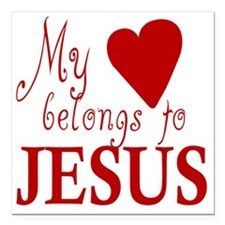 "hearttojesus Square Car Magnet 3"" x 3"""