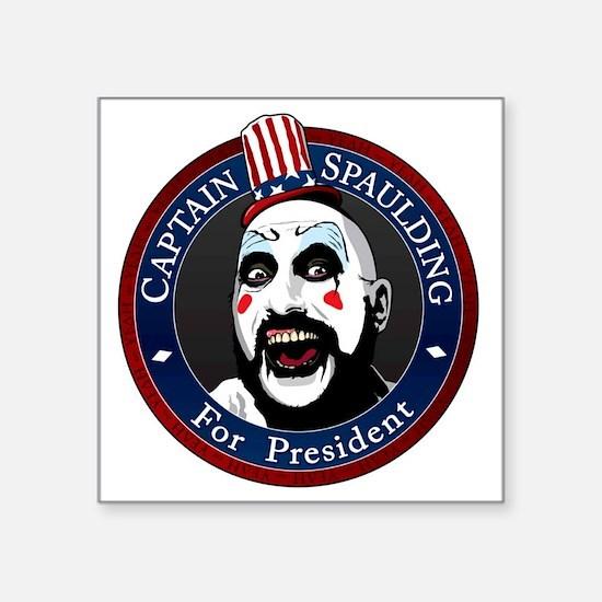 """Captain Spaulding for Presi Square Sticker 3"""" x 3"""""""