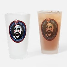 Captain Spaulding for President Drinking Glass