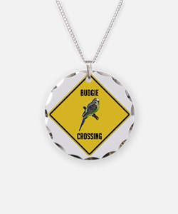 crossing-sign-budgie Necklace