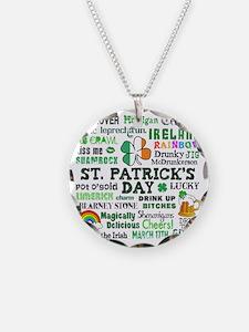 St Patricks Necklace Circle Charm